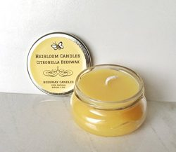 Citronella Beeswax Candle – Mosquito Repellent Candle – Handmade, 6oz