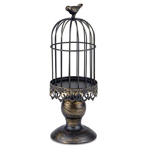 Autai Candle Holder Metal Birdcage Vintage Candlestick Decoration Stick Wedding Ce