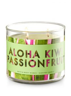 Bath and Body Works 3 Wick Scented Candle Aloha Kiwi Passionfruit 14.5 Ounce