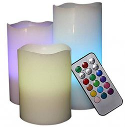 Remote Controlled LED Scented Candles Flameless Candles, Halloween Lights, LED Outdoor Lights, M ...