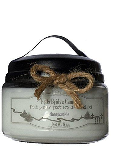 Falls Bridge Candles Honeysuckle, 8 oz. Scented Jar Candle, Soy Blend