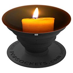 Orange Candle Warm Glowing Candlelight Autumn Fall Color – PopSockets Grip and Stand for P ...