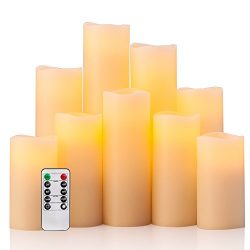 Flameless Candles Battery Operated Candles(4″ 5″ 6″ 7″ 8″ 9″ ...