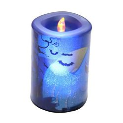 Halloween Clearance, Halloween Candle LED Light Home Garden Light Party Decor Light (Blue)