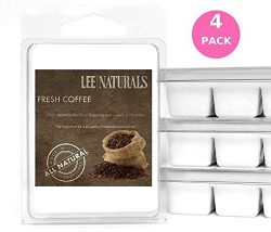 Lee Naturals Classic Collection – (4 Pack) FRESH COFFEE Premium All Natural 6-Piece Soy Wa ...