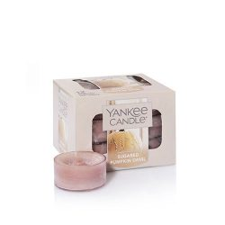 Yankee Candle Sugared Pumpkin Swirl Tea Light Candle, Food & Spice Scent