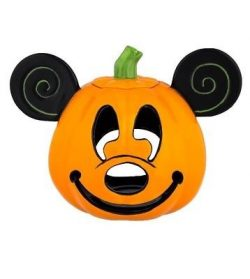 disney parks halloween mickey mouse pumpkin votive candle holder ceramic new