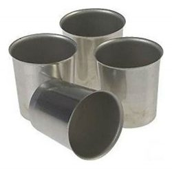 Seamless Metal VOTIVE Candle Molds (Lot of 12)
