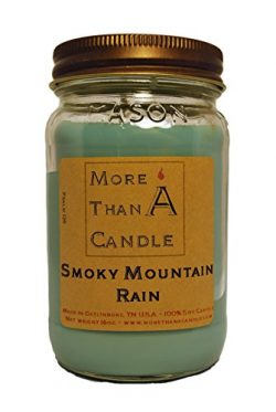 More Than A Candle 16 oz Mason Jar Soy Candle – Made in the USA Smoky Mountain Rain