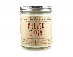 Fall Candles 8oz Mulled Cider Scented Candle, 100% Soy Wax Scented Candle by Silver Dollar Candl ...