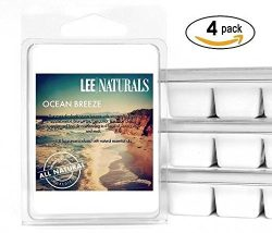 Lee Naturals Spring & Summer – (4 Pack) OCEAN BREEZE Premium All Natural 6-Piece Soy W ...