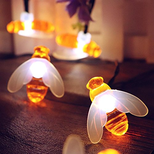 BZ745 LED bee festival home garden decoration lamp curtain string lights, party carnival, fairy  ...