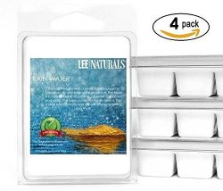 Lee Naturals Spring & Summer – (4 Pack) FRESH RAIN Premium All Natural 6-Piece Soy Wax ...