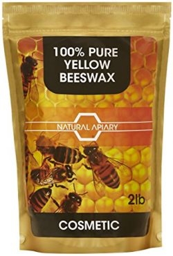NATURAL APIARY 100% PURE BEESWAX PELLETS – 2LB COSMETIC Pastilles, DIY Projects, Moisturiz ...
