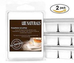 Lee Naturals Classic Collection – (2 Pack) PUMPKIN SOUFFLE Premium All Natural 6-Piece Soy ...