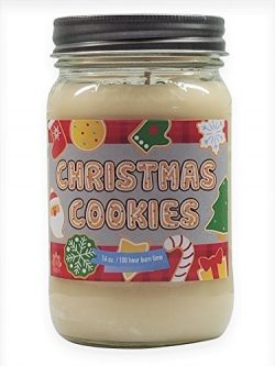 Christmas Cookie Scented Candle Soy Wax Candle. Aromatherapy Soy Candles Burn Cleaner ~ Longer ~ ...