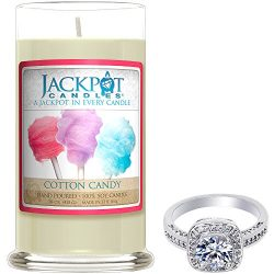 Cotton Candy Candle with Ring Inside (Surprise Jewelry Valued at 15 to 5,000) Ring Size 7