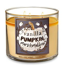 Bath and Body Works Vanilla Pumpkin Marshmallow Candle – Large 14.5 Ounce 3-wick Limited E ...