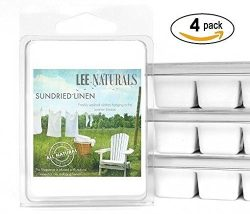 Lee Naturals Spring & Summer – (4 Pack) SUNDRIED LINEN Premium All Natural 6-Piece Soy ...