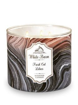 Bath and Body Works 3-Wick Scented Candle in Fresh Cut Lilacs 14.5 Ounces