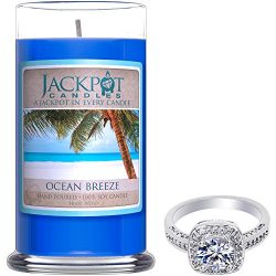 Natural Soy Candle with Jewelry Made in USA (Surprise Jewelry Valued at $15 to $5,000) Burn Time ...