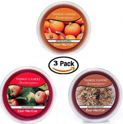 Yankee Candle Fall Favorites Meltcups – Autumn Wreath + Spiced Pumpkin + Macintosh – ...