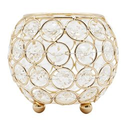 Joynest Crystal Tea Light Candle Lantern Holders, Wedding Coffee Table Decorative Centerpieces f ...