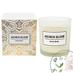 AromusBloom Scented Candle Gift Natural Essential Oils, 100% Eco-Friendly Soy Wax Aromatherapy C ...