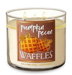 Bath and Body Works Pumpkin Pecan Waffles Candle – Large 14.5 Ounce 3-wick Limited Edition ...