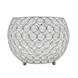 Joynest Crystal Tea Light Candle Lantern Holders, Wedding Coffee Table Decorative Centerpieces f ...