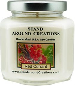 Premium 100% Soy Wax Candle – 6 – oz. Hex Jar- Red Currant – A punchy note of  ...