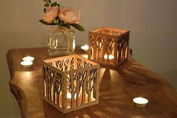 Wooden Candle Holder, Tree Tea Light Lantern, Mothers Day Gift, Housewarming Gift, Anniversary Gift