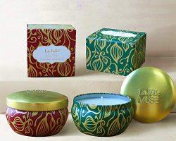 LA JOLIE MUSE Scented Candles Set 2 Cinnamon Pumpkin & Cedarwood Fir, Natural Soy Wax, Fall  ...