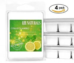 Lee Naturals Classic Collection – (4 Pack) CITRUS CILANTRO Premium All Natural 6-Piece Soy ...