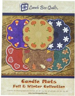 Lunch Box Quilts EC-CA1-DD Candle Mats Fall and Winter Collection Pattern, None