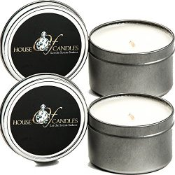 Oriental Spice x 2 Ecosoy Scented Candles – Tins – Vegan & Cruelty Free