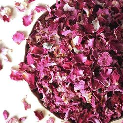 Dried Rose Petals, Organic, Culinary-Grade, Fragrant (1.4 oz/40 grams)