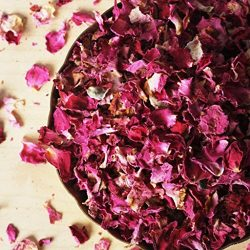 Dried Rose Petals, Organic, Culinary-Grade, Fragrant (3.2 oz)