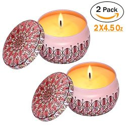 Eyansda Scented Candles Set of Rose, Eco-Friendly Pure Soy Wax for Stress Relief and Aromatherap ...