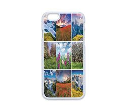 Phone Case Compatible with iPhone6 iPhone6s White Edge 2D Print,Spa,Aromatherapy Purple Lilac Or ...