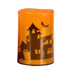 Halloween Clearance, Halloween Candle LED Light Home Garden Light Party Decor Light (Orange)