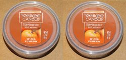 Yankee Candle Spiced Pumpkin Scenterpiece Easy Meltcup Wax Melt Cup 2 Units (NET WT 2.2 OZ 61 g)