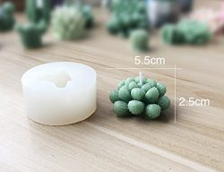Silicone Succulent Cactus Candles Handmade Molds Fondant Mould Soap Mold for Valentine's D ...