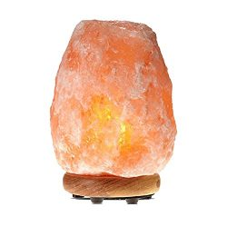 Himalayan Glow WBM 1002 large Salt lamp. ETL Certified himalayan pink salt lamp with Neem Wood B ...