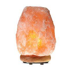 Himalayan Glow WBM 1002 large Salt lamp. ETL Certified himalayan pink salt lamp with Neem Wood B ...
