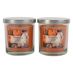 DII Z02118 Single Wick Evenly Burning Highly Scented Jar Candle, 8 oz, Pumpkin Caramel