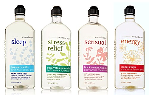 Aromatherapy Body Wash and Foam Bath — Eucalyptus Spearmint + Lavender Vanilla + Orange Gi ...