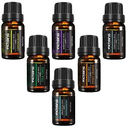 VicTsing Natural Essential Oils Set, Top 6 Pure Therapeutic Grade Upgraded Aromatherapy Essentia ...