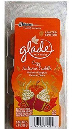 Glade Cozy Autumn Cuddle Heirloom Pumpkin, Caramel, Spice Wax Melts 6ct