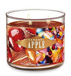 Bath and Body Works Caramel Apple Candle – Large 14.5 Ounce 3-wick Limited Edition Fall Ca ...